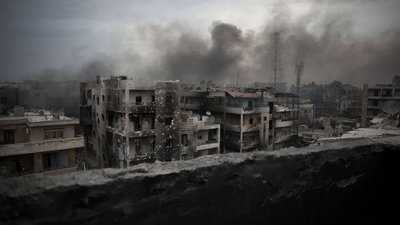 Besieged city of Aleppo
